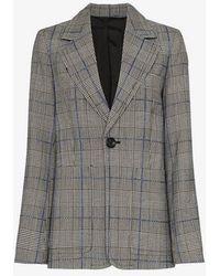 JOSEPH - Annab Textured Check Wool Jacket - Lyst