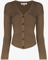 FRAME Phoebe Button-up Cardigan - Green