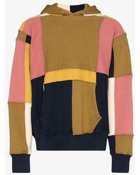 Les Tien - Brown Colour-block Hoodie - Lyst