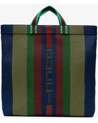 Gucci - Multicoloured Stripe Logo Tote - Lyst