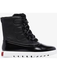 Sorel Joan Of Arctic Next Lite Leather Boots - Black