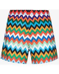 Missoni Zig-zag Print Swimming Shorts - Blue