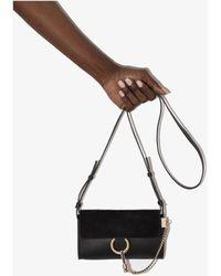 Chloé Faye Leather Cross Body Bag - Black