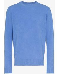 The Elder Statesman - Periwinkle Cashmere Crewneck Sweater - Lyst
