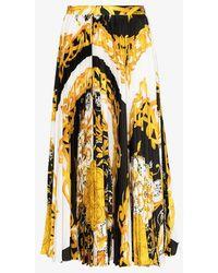Versace - Baroque Print Pleated Midi Skirt - Lyst