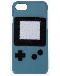 Les Petits Joueurs Ladies Blue Leather Gameboy Iphone 7 Case