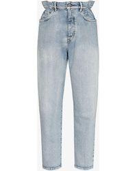 Miu Miu High-waisted Straight-leg Jeans - Blue