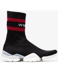 Vetements - X Reebok Black Sock Trainers - Lyst