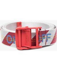 Off-White c/o Virgil Abloh - Red Industrial Belt - Lyst