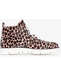 Fracap Leopard Print Hiking Boots - Pink