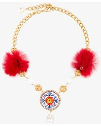 Dolce & Gabbana - Decorative Necklace - Lyst