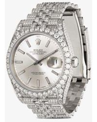 Rolex X 777 Customised Oyster Perpetual Datejust Watch - Metallic
