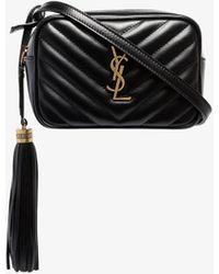 Saint Laurent Lou Leather Belt Bag - Black