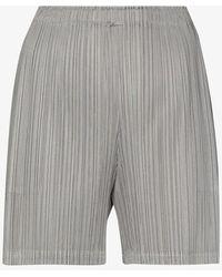 Pleats Please Issey Miyake Plissé Shorts - Grey
