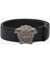 Versace - Medusa Metal Buckle Belt - Lyst