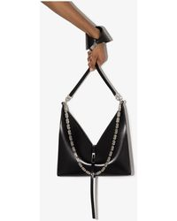 Givenchy Cut Out Small Leather Cross Body Bag - Black