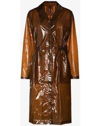Rains Transparent String Overcoat - Brown