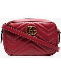 09f59cc91 Gucci GG Marmont Matelassé Leather Mini Cross-Body Bag - Lyst