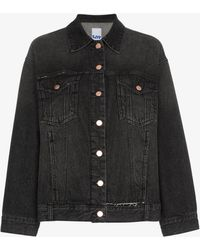 SJYP - Oversized Distressed Denim Jacket - Lyst