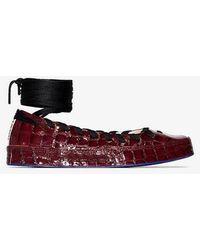 Converse X Koché Red All Star Rina Leather Flats