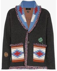Alanui - Skeleton Embroidered Cashmere Cardigan - Lyst