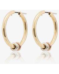 Spinelli Kilcollin - 18k Yellow Gold Diamond Hoop Earrings - Lyst