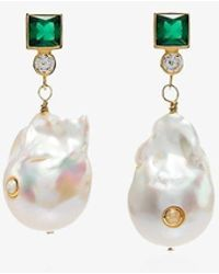 Anni Lu 18k Gold-plated Pearl Agate Earrings - Multicolour