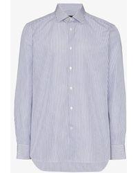 Ermenegildo Zegna Stripe Print Shirt - White