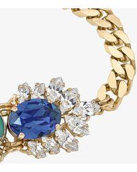 Anton Heunis -plated Crystal Cuban Link Bracelet - - Crystal/ Plated Brass - Metallic