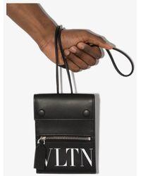 Valentino Garavani Vltn Leather Smartphone Case - Black
