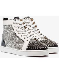 6ac3ab3d3b0 Lyst - Christian Louboutin Louis Orlato Leather Sneakers in Green ...