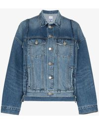 SJYP - Oversized Panelled Denim Jacket - Lyst