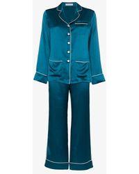 Olivia Von Halle Two-piece Pyjama Set - Blue