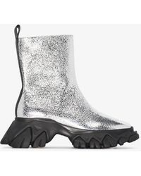 Angel Chen Dragontooth Leather Ankle Boots - Metallic