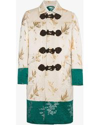 Gucci - Jacquard Coat With Dragon Embroidery - Lyst