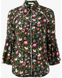 Erdem - Floral Printed Aran Shirt - Lyst