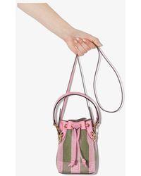 Fendi Mon Tresor Mini Canvas & Leather Bucket Bag - Pink