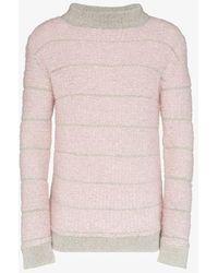 Eckhaus Latta Stripe Knit Jumper - Pink