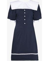 Masterpeace Sailor V-back Mini Dress - Blue