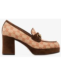 Gucci Houdan 60 Platform Loafer - Brown