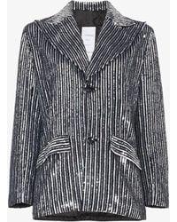 Ashish - Striped Sequin Embellished Blazer - Lyst