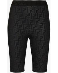 Fendi Ff Logo Cycling Shorts - Black