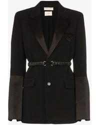 Bottega Veneta Belted Detail Blazer - Black