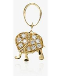 Loquet London 18k Yellow Gold And Diamond Elephant Pendant - Metallic