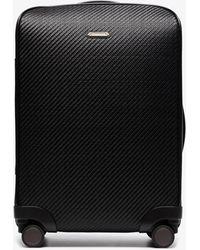 Ermenegildo Zegna Woven Leather Cabin Suitcase - Black