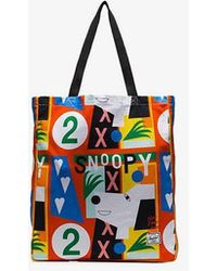 Herschel Supply Co. - Multicoloured Graphic Print Canvas Tote Bag - Lyst