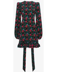The Vampire's Wife - Belle Floral Print Ruffle Hem Dress - Lyst