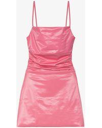 Maisie Wilen Glossy Mini Dress - Pink