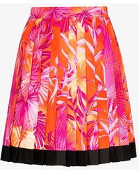 Versace Pleated Mini Skirt - Pink