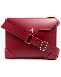 MANU Atelier - Red Bold Leather Cross-body Bag - Lyst